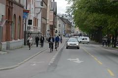 Sykkelfelt Kjpmannsgt. 0944 (Miljpakken) Tags: trondheim rdt sykling bymilj gatemilj miljpakken syklister bygate bytransport bytrafikk miljopakken sykkelveg sykkelanlegg bysykling
