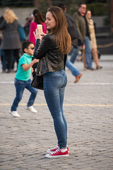 Back (akk_rus) Tags: street girls people woman girl lady nikon women candid nikkor 70300mm d800 девушка дама 70300mmf4556gvr nikkor70300mmf4556gifedafsvr nikond800