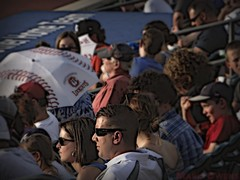 Full count... (mark owens2009) Tags: umbrella fans sunglare baseballgame chattanoogalookouts