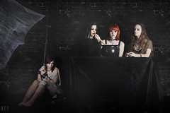 Dark Ritual (rehphoto.com) Tags: barcelona black color halloween girl dark three chica witch negro innocent models captured modelos shooting ritual witches captive redhair sesion brujas sacrifice inocente oscuridad 2015 sacrificio peliroja cautiva rehphotocom