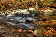 Rockhopping (dK.i photography) Tags: longexposure autumn friends fall leaves flow rocks stream flickr maryland foliage cascades granite current silky wetfeet slickrocks ef2470f28lusm canon5dmkii singhrayvarintrio