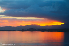 Sunset over Raasay and Skye (richardstelmach) Tags: sunset sea sky orange skye nature landscape outdoors scotland loch westerross applecross raasay