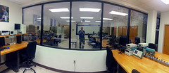 Lab Window (byzantiumbooks) Tags: reflection window panoramic selfie werehere hereios