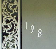 198 doty house number (pieplate) Tags: 198 doty