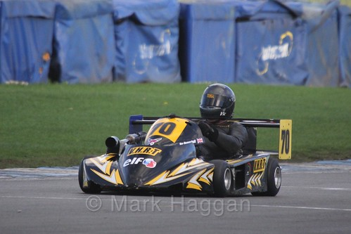 Vic Hempshall in Superkart racing during the BRSCC Winter Raceday, Donington, 7th November 2015