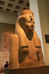 The Goddess Hathor Statue (1390-1352 BC) (praja38) Tags: life uk england london history statue museum temple ancient europe king european god live religion caps goddess egypt culture humour historic peoples bust egyptian britishmuseum amenhotep osiris thebes capricorn triad hathor mortuary amenhotepiii newkingdom merenptah