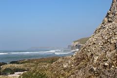 Fairy landscae (veronikapristova) Tags: ireland sea sky white beach nature rock landscape iso100 blurry dof background ni shallow northern f11