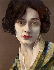 Coco Chanel, 2011 // by Lita Cabellut (Barcelona, Spain, b. 1961) (mike catalonian) Tags: portrait face female painting spain 2011 2010s litacabellut