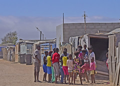 Teenagers in Kuisebmond Township (D70) Tags: africa girls boys children group teenagers namibia township shacks youths kuisebmond