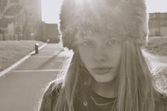 Siberian English (plot19) Tags: family portrait england blackandwhite black english love girl hat fashion pose manchester photography blackwhite model olivia britain teenager liv british lowry fasion plot19