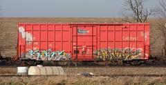 Same/Kamit (quiet-silence) Tags: railroad art train graffiti railcar same boxcar graff freight sry fr8 tbv kamit sry9356