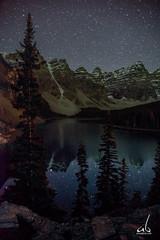 Galaxy Reflection in Moraine Lake (anoopbrar) Tags: mountain lake mountains water night reflections stars nationalpark jasper galaxy astrophotography banff galaxies peaks lakelouise moraine valleys banffnationalpark milkyway morainelake valleyofthetenpeaks tenpeaks