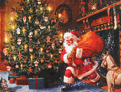 """""""Santa's Arrival"""" (Puzzler4879) Tags: santa christmas canon puzzles canonaseries canonphotography canonpointandshoot jigsawpuzzles a590is canona590is canonpowershota590is powershota590is artisticpuzzles christmasjigsawpuzzles"""
