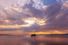 sunset 5563 (junjiaoyama) Tags: japan sunset sky light sun sunshine cloud weather landscape golden contrast colour bright lake island