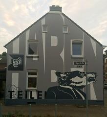 haben - teilen (falkmo) Tags: mural wall grey grau weiss white graffiti urban art street rat ratte affe ape