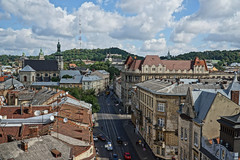 Streets of Lviv from Roof Level (tarmo888) Tags: selp18105g sonyalpha sony nex7 geotaggedphoto geosetter sooc photoimage foto year2016 special beenwaiting ukraine  ukrayina   lviv lww lvov lemberg   leopolis lwow hdrpainting pictureeffect vysokyizamok highcastle