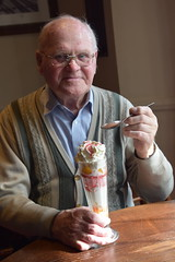 DSC_3241 Geoff Spafford Scunthorpe North Lincolnshire The Royal Hotel Excellent Food Highly Recommended knickerbocker glory (photographer695) Tags: scunthorpe north lincolnshire the royal hotel excellent food highly recommended a knickerbocker glory is layered cream sundae that served large tall conical glass be eaten with distinctive long spoon geoff spafford