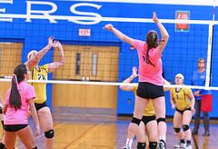 IMG_10207 (SJH Foto) Tags: girls volleyball high school lampeterstrasburg lampeter strasburg solanco team tween teen east teenager varsity net battle spike block action shot jump midair