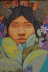 Woman of Paris or Don`t be shye (Marco Braun) Tags: streetart graffiti paris 2016 bunt farbig colourful colourdschwarz black noire frau woman femme tnaz dance balett francefrankreich