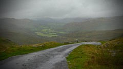 Hardknot Downside (J @BRX) Tags: hardknotpass roadtrip sky mountains rain stream lakedistrict nationalpark cumbria england uk september2016 summer