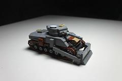 Sherman Dozer ([C]oolcustomguy) Tags: lego wwii brickarms brick arms us american sherman dozer grey tannks tanks