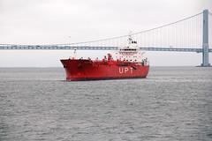 Chemical tanker: UPT Conti Agulhas (Canadian Pacific) Tags: usa us america american unitedstates ofamerica newyork city urban ship cargo orange aimg6902 verrazanonarrows bridge chemical tanker