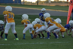 1268 (bubbaonthenet) Tags: 09292016 game stma community 4th grade youth football team 2 5 education tackle 4 blue vs 3 gold