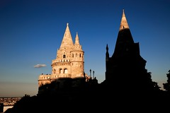 shadows (kareszzz) Tags: budapest hungary travelphotography contrast fishermansbastion canon canon6d ef24105 shadows sunset 6d sights cityscape landscape silhouettes people