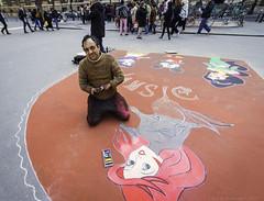 My Disney Prince (julesnene) Tags: artist canon7dmark2 canon7dmarkii disney france juliasumangil paris prince disabled julesnene streetphotography travel ledefrance fr myprince princecharming chalk