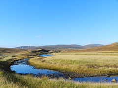 Black Water River, Highlands of Scotland, Oct 2016 (allanmaciver) Tags: black water river blue sky flow wind curve autmn colours chill golden highlands scotland remote lonely admire enjoy delight allanmaciver