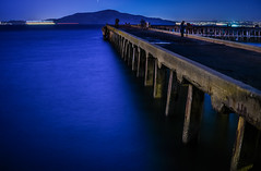 after dark pier traffic (pbo31) Tags: california nikon d810 october 2016 fall boury pbo31 bayarea sanfrancisco color black night dark pier blue lightstream bay fishing sail infinity motion blur bluehour goldenhour presidio goldengatenationalrecreationarea fishermen