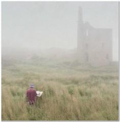 As the mist rolls in (Hugh Stanton) Tags: artist botalack mines fog misty appickoftheweek