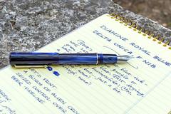Delta Unica Blue, Diamine Royal Blue (kitchener.lord) Tags: pens ink stationery diamine nib xf27 2016 delta unica royalblue oxford