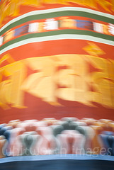 Prayer Wheel (whitworth images) Tags: painted administration building buddhist large himalaya himalayas intricate bhutan enormous culture buddhism interior travel decorated custom ancient historic pray inside dzong yellow worship wheel turn trongsadzong fortress red monastery government mantra stone rotate religious religion huge prayerwheel asia architecture trongsa old dzongkha prayer traditional