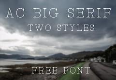 Download AC Big Serif free font (vectorarea) Tags: fonts freehandwritingfontdownload serif