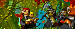 elven guard vs orcs (max327ua) Tags: lego lotr hobbit lordofthering lord orc elf minifig minifigures minifigure castle sauron brick battle art army archers series gundabad mordor mirkwood noldor weapon toy azog elven quard middleearth urukhai uruk