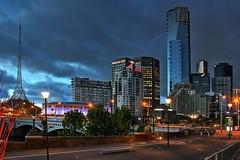 #31 / 100x - Melbourne Skyline (DaveFlker) Tags: melbourne skyline eureka tower herald sun southbank arts centre blue hour victoria