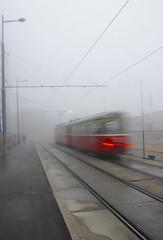 Next Station (CoolMcFlash) Tags: tram movement speed exposure motion motionblur rails autumn fog foggy traffic vienna canon eos 60d tamron b008 18270 cold strasenbahn bim geschwindigkeit bewegung bewegungsunschrfe schienen herbst nebel nebelig verkehr street strase wien fotografie photography