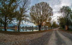 lake Zajarki (073) - morning (Vlado Ferenčić) Tags: lakes lakezajarki zajarki autumn autumncolours morning hrvatska zaprešić croatia sunrise cloudy clouds fisheye sigma1528fisheye nikond600