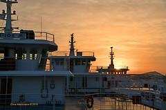Ferry terminal  DSC_2909 (Chris Maroulakis) Tags: salamina island paloukia port ferry terminal sunset nikon d7000 chris maroulakis 2016
