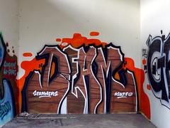 Graffiti on Koh Samui 2015 (kami68k -all over-) Tags: kohsamui thailand 2015 graffiti illegal bombing deam asktf