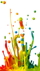 Colorful paint splashing (rumpa_07ruet) Tags: splashing paint splash white liquid red isolated colourful colour color colorful drip flow fluid yellow flowing splatter splattering abstract wet ink spectrum acrylic sound splattered green messy motion drop bright rainbow dye multicolored spray artistic pink purple creativity blue blob mix art shape milk russianfederation