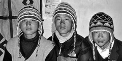 My porters (vittorio vida) Tags: porters himalaya everest trek trekking asia nepal portrait people bn bw monochrome hat mountain travel