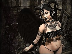 DarkWingedBeauty3 (shirley Uborstein) Tags: female woman sexy bikini wings dark fantasy jewels tattoo inworld secondlife sl photography art blog fashion aisling anlar catwa dstyle epoch fantasygatchacarnival lorien pinup suicidedollz suicidegurls zibska taketomi {s0ng}
