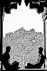 Negro sobre Blanco (raperol) Tags: india blancoynegro bn contraste 2012 50d