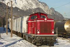 Salzburger Lokalbahn V83 Anschlußbahn MDF Hallein (leopold_schober) Tags: mdf hallein anshclusbahn innofreight