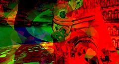 Aria / Artist : Haveit Neox (Bamboo Barnes - Artist.Com) Tags: haveitneox secondlife art installation surreal virtualart digitalart photo painting vivid red green black yellow light shadow bamboobarnes baroquedreams blue tower aria kultivatemagazine