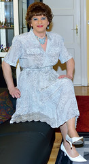 Birgit023256 (Birgit Bach) Tags: dress kleid buttonthrough durchgeknöpft pleatedskirt faltenrock