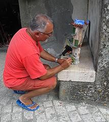 Artigianato calabro. (sangiopanza2000) Tags: artigiano artigianato handycraft palizzi calabria kalabria italia italy sangiopanza persona