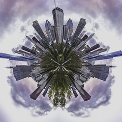 Chicago World (NicolasEyes) Tags: day trip nice picoftheday awesome cute happy beautiful usa unitedstates chicago enjoy openyoureyes gorgeous canonusa canon100d canon createandcapture exploretocreate streetphotography share like love followme colorful color battery streetart streetphoto street music weekend personnes extrieur abstrait abstract tiny planet plante tinyplanet world city panorama art blue sky vert green bleu original horizon crazy